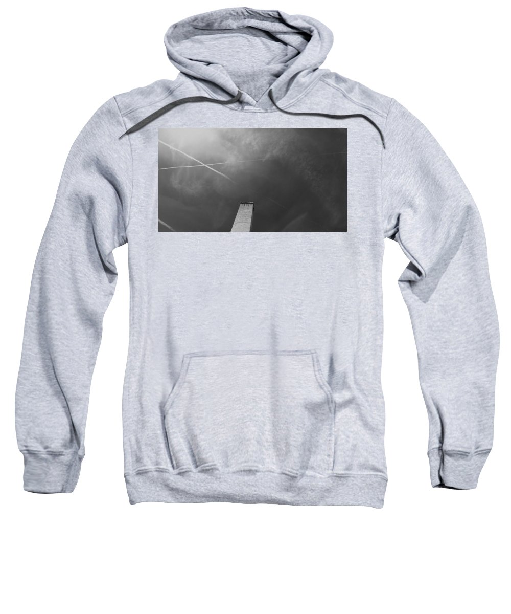 Black And White Photography Sweatshirt featuring the photograph Phallic Pride by Kirk Griffith