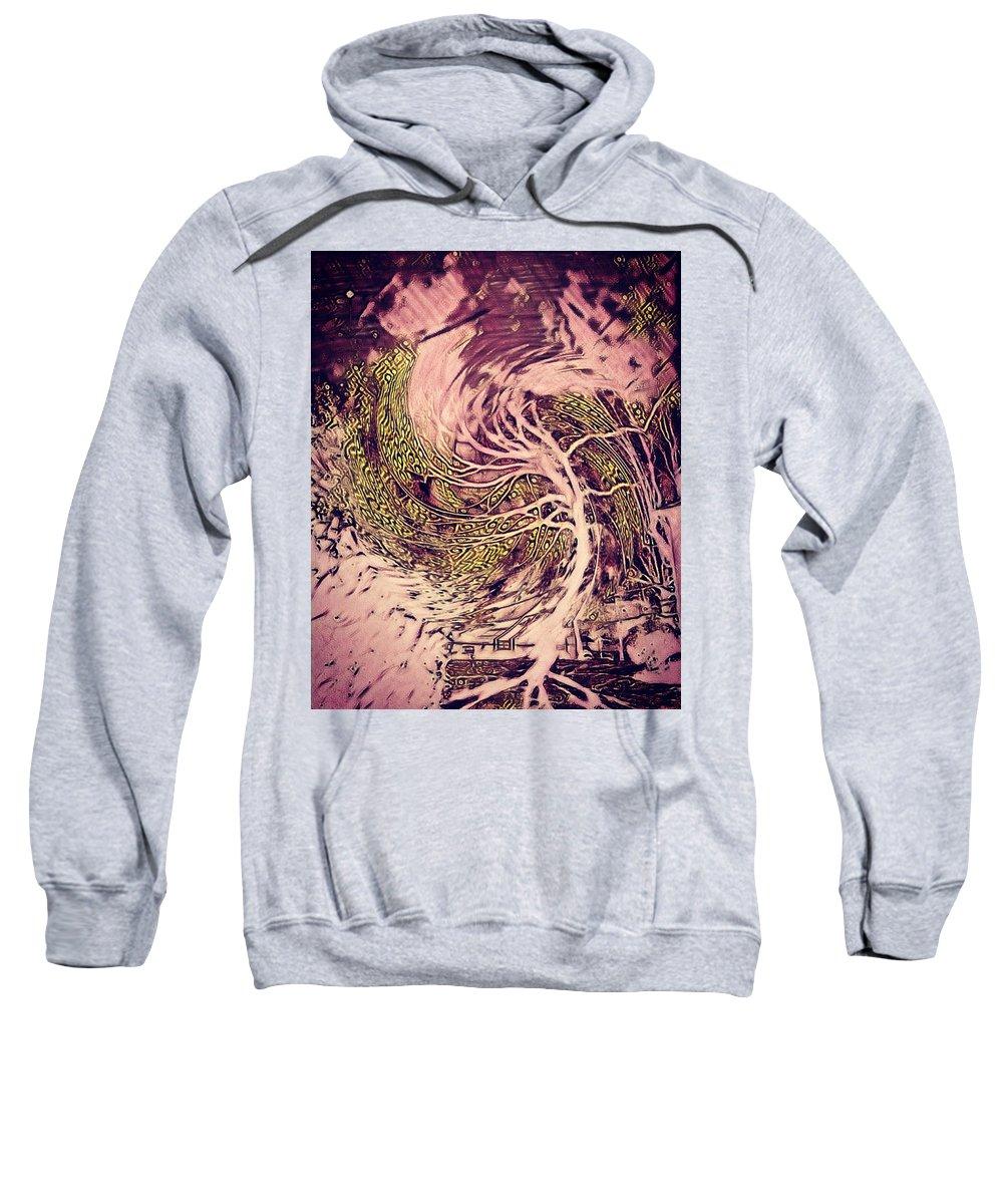Sweatshirt featuring the digital art Phenom Of Force by Julia Beck