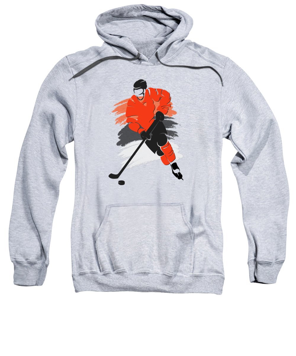 Flyers Sweatshirt featuring the photograph Philadelphia Flyers Player Shirt by Joe Hamilton