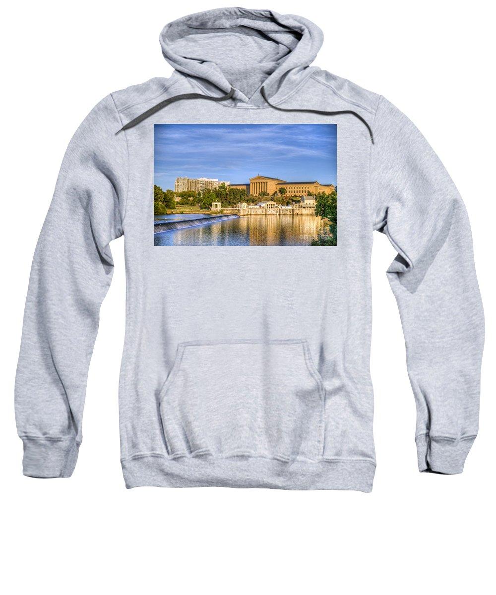 Art Museum Sweatshirt featuring the photograph Philadelphia Museum Of Art by David Zanzinger