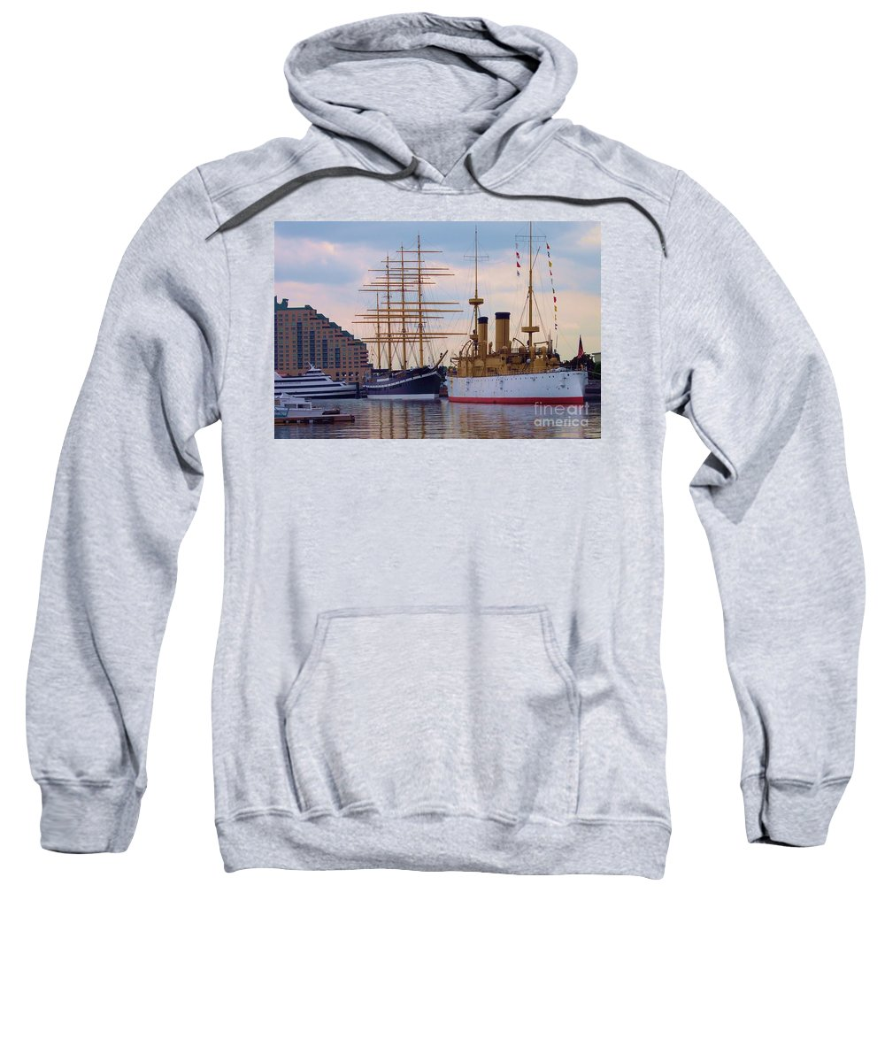 Philadelphia Sweatshirt featuring the photograph Philadelphia Waterfront Olympia by Debbi Granruth