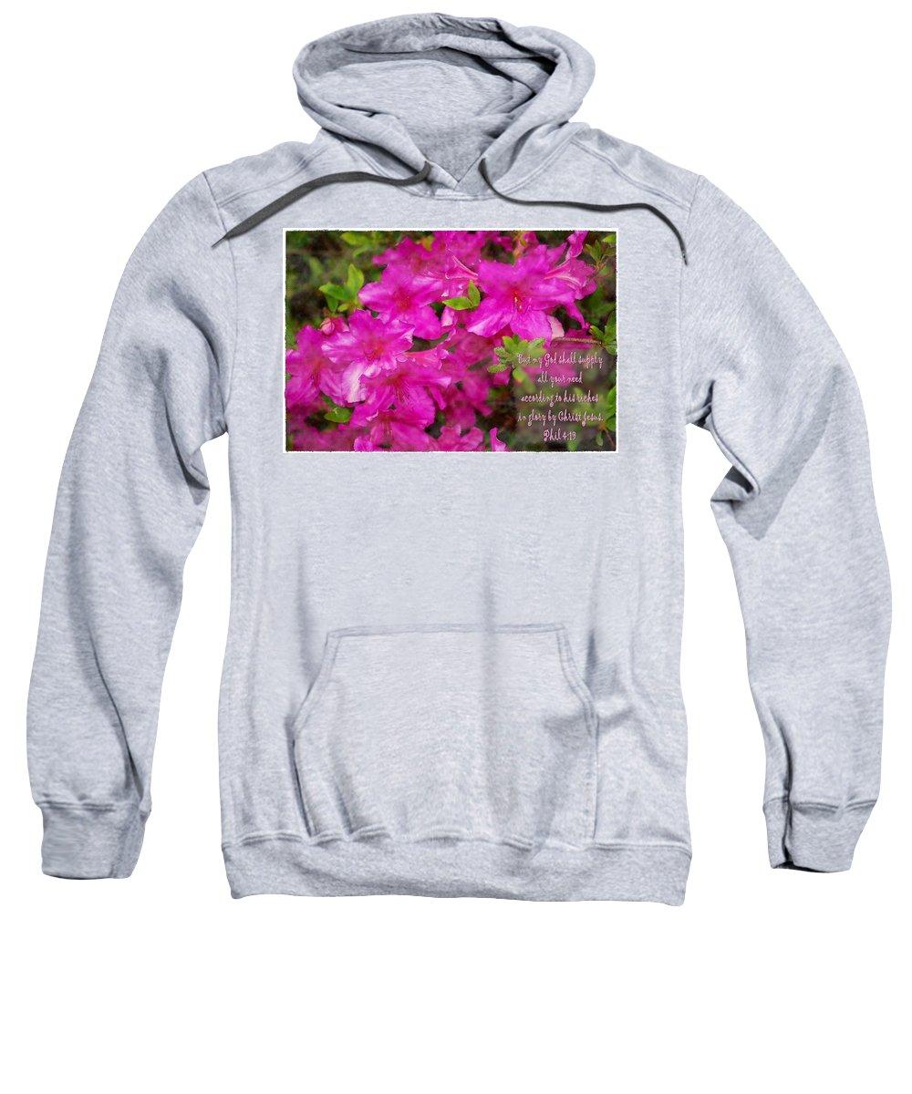 Jesus Sweatshirt featuring the digital art Philippians 4 19b by Michelle Greene Wheeler