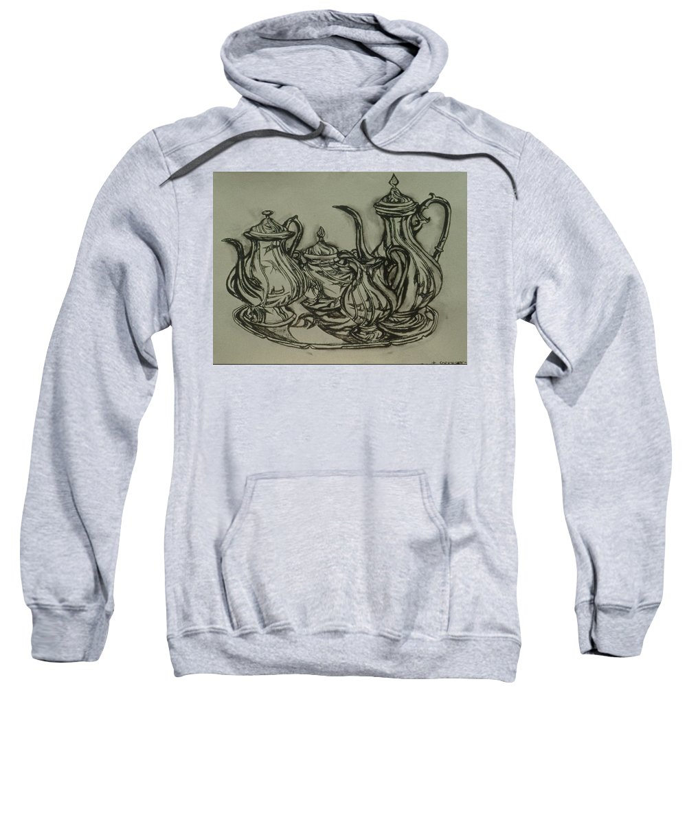 Still Life Sweatshirt featuring the painting Phoenix II by Robert SORENSEN