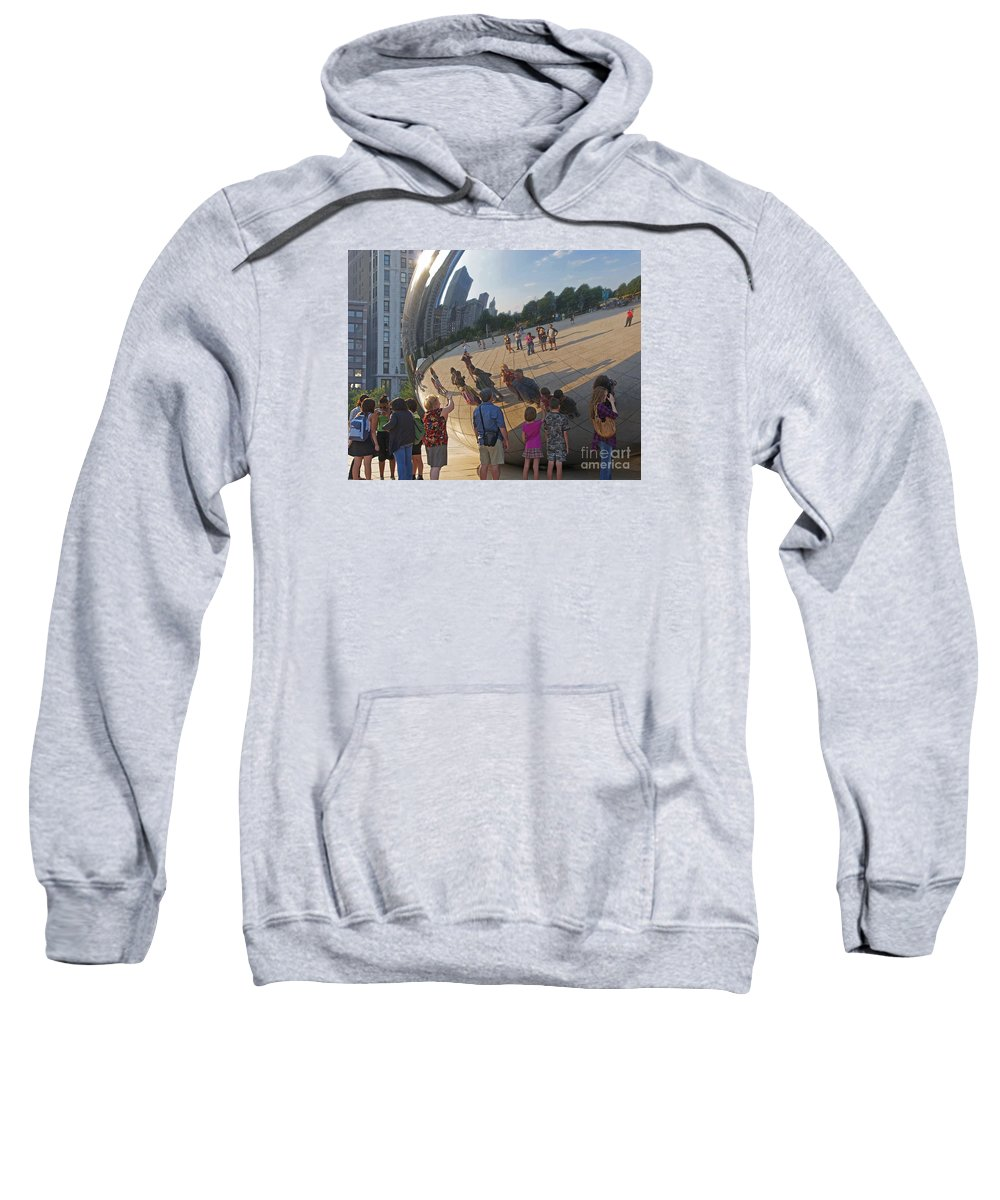 Chicago Sweatshirt featuring the photograph Photographers All by Ann Horn