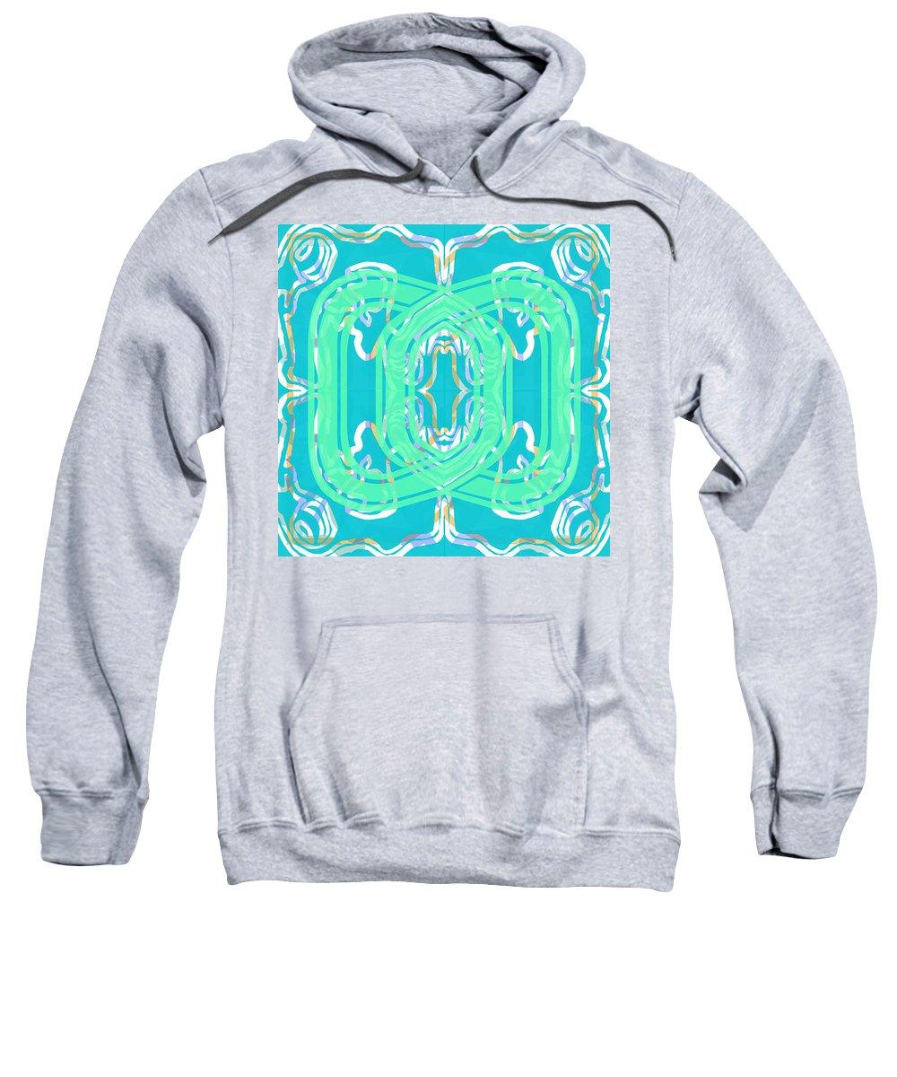 Digital Geometric Abstract Design Pattern Sweatshirt featuring the digital art Pic13_coll1_15022018 by John England