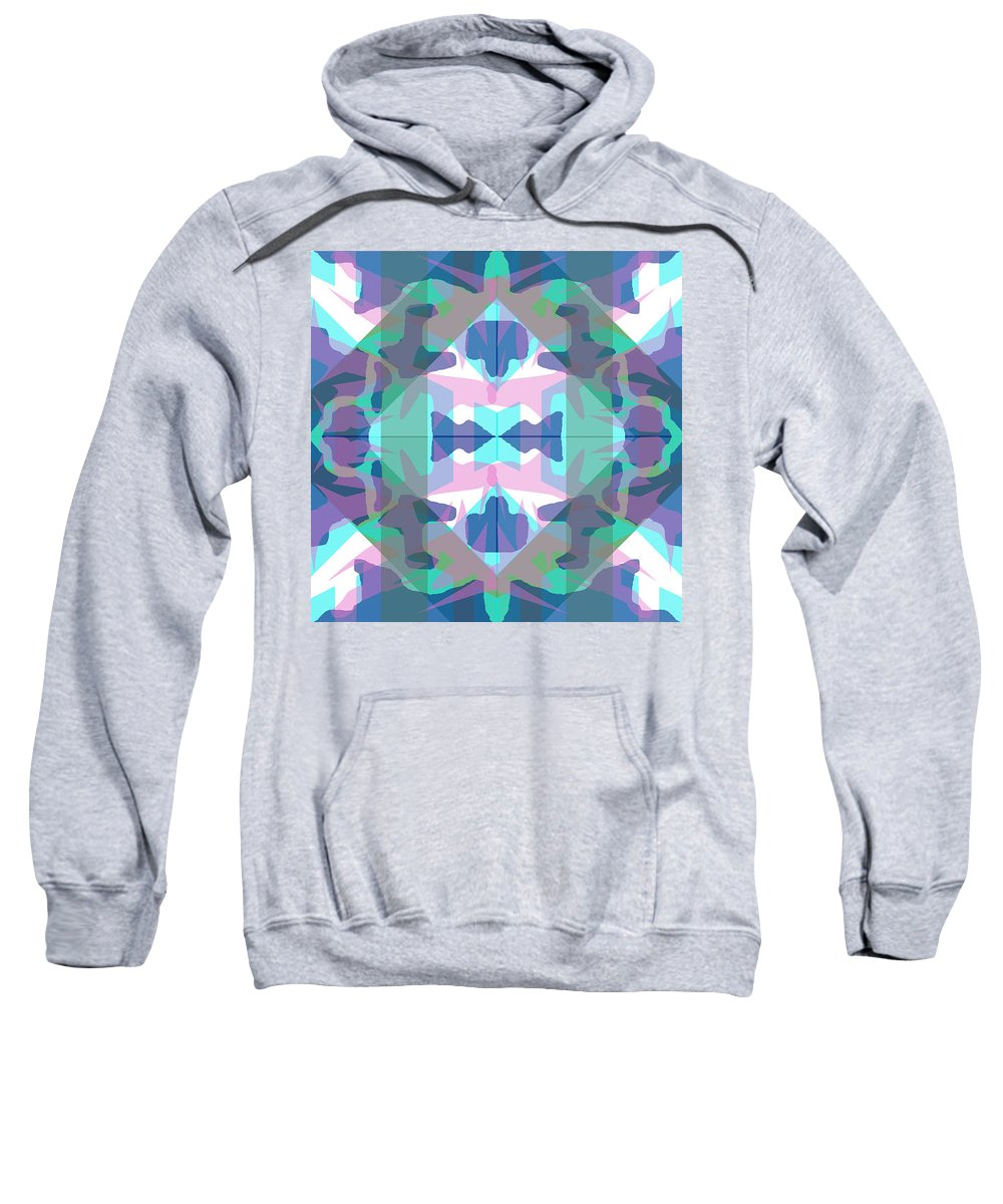 Digital Geometric Abstract Design Pattern Sweatshirt featuring the digital art Pic3_coll1_15022018 by John England