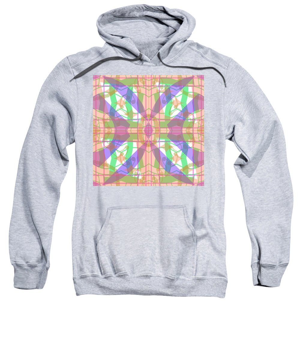 Digital Geometric Abstract Design Pattern Sweatshirt featuring the digital art Pic7_coll1_15022018 by John England
