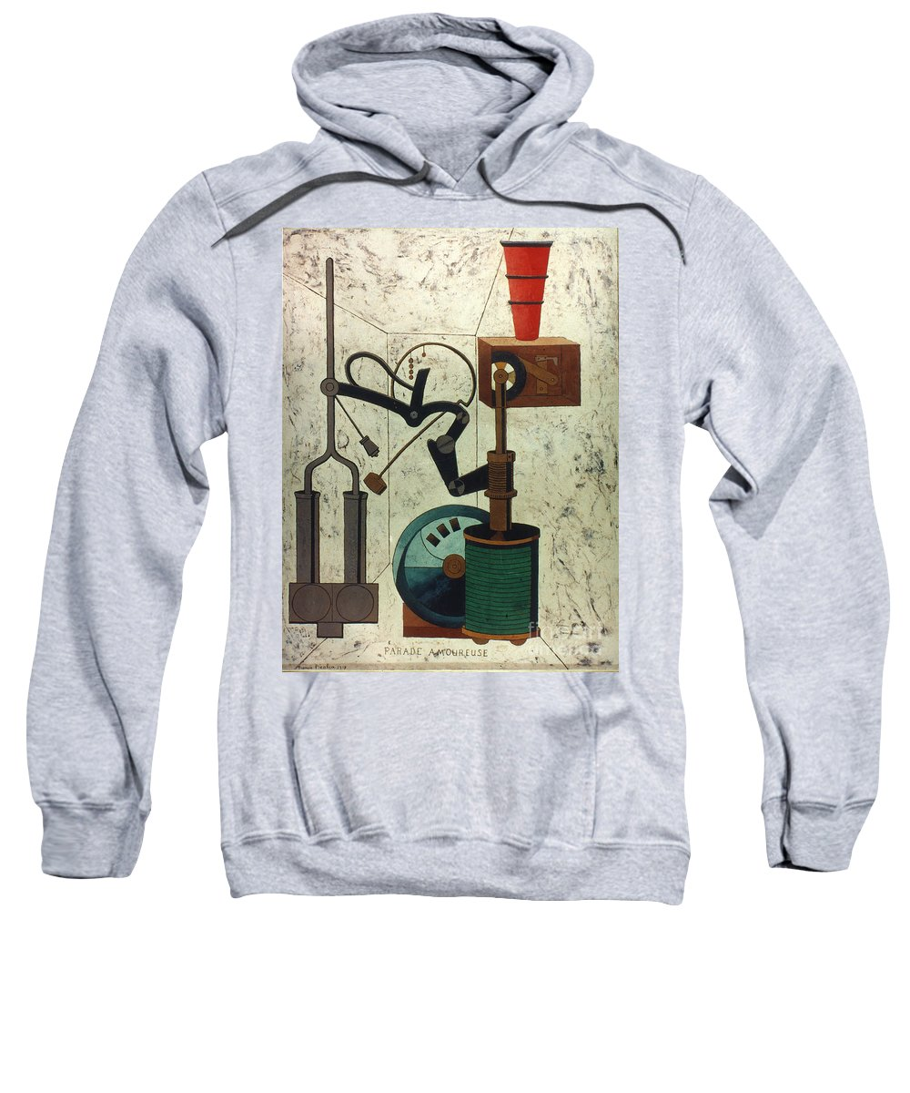 1917 Sweatshirt featuring the photograph Picabia: Parade by Granger