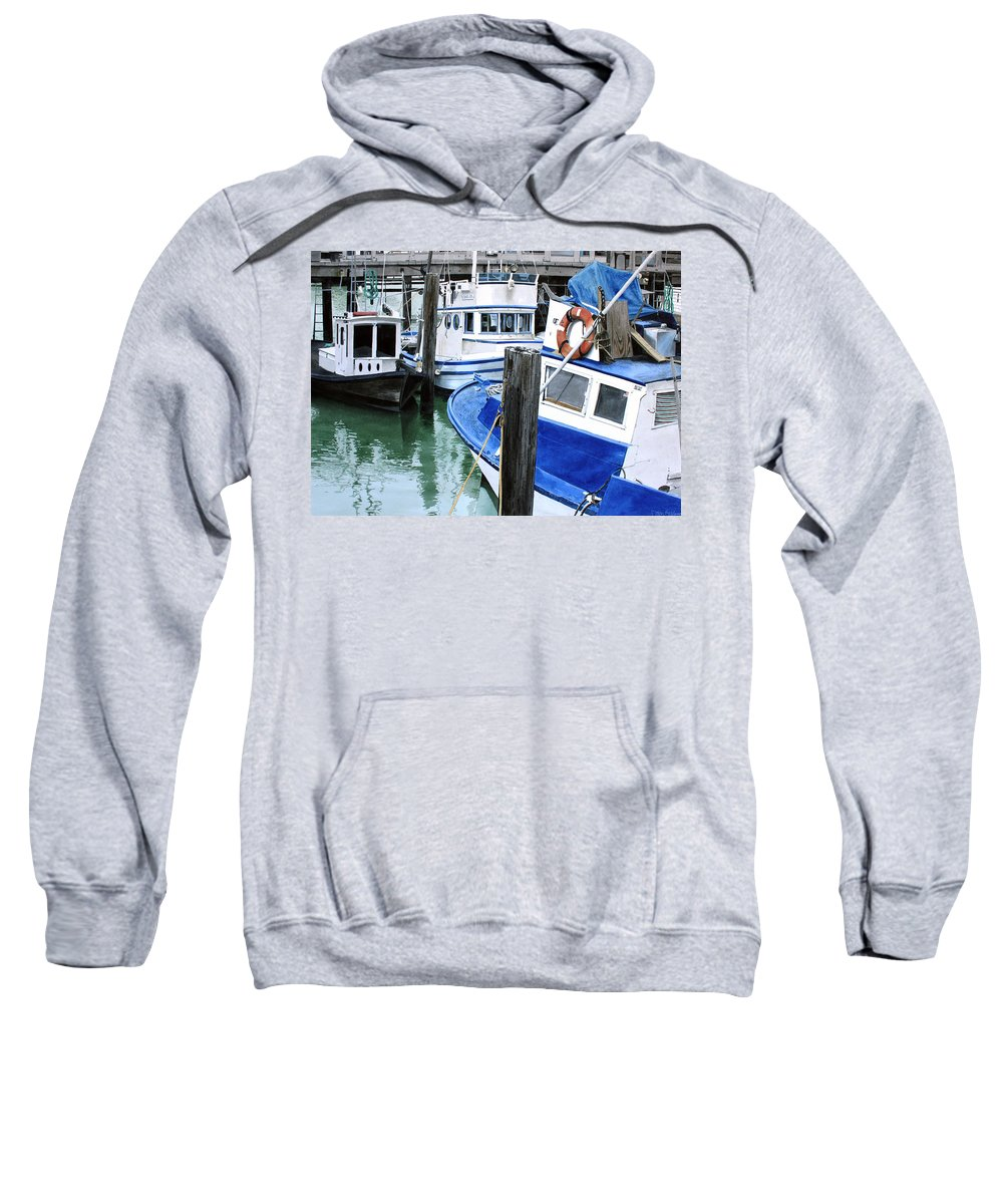Water Scape Sweatshirt featuring the painting Pier 39 by Denny Bond