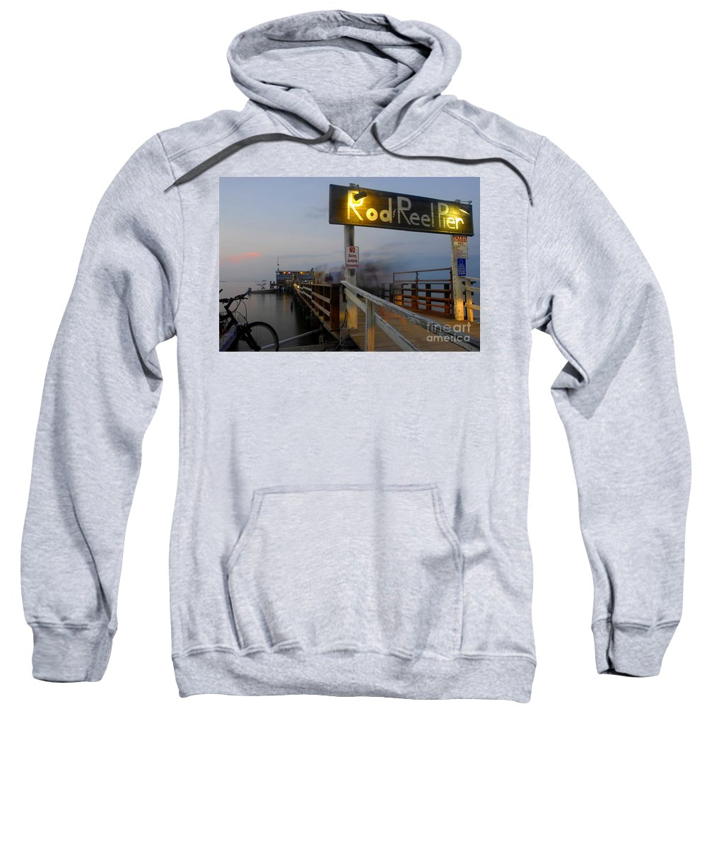 Fishing Pier Sweatshirt featuring the photograph Pier Group by David Lee Thompson