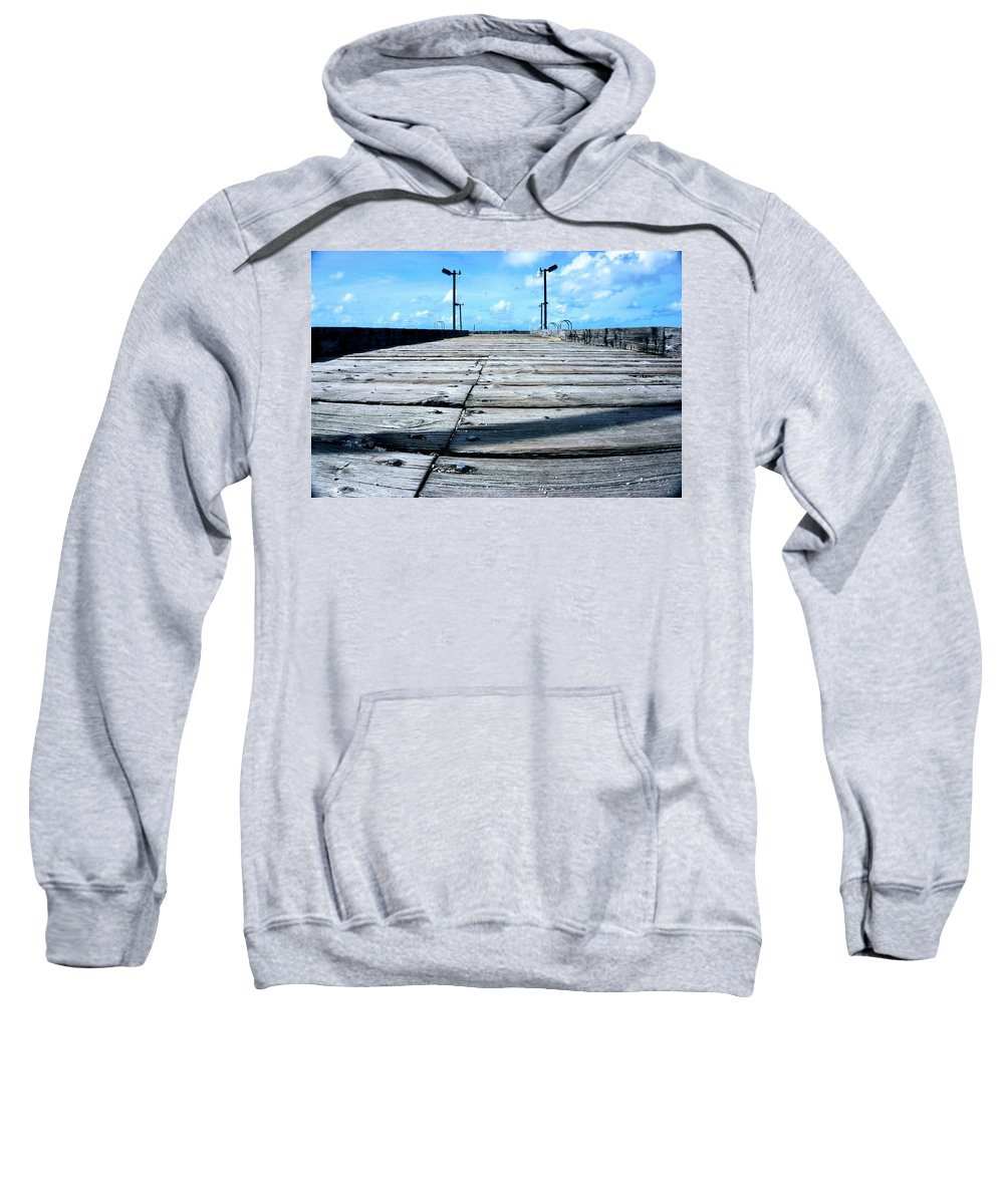 Pier Sweatshirt featuring the photograph Pier To The Sky by Jade Phoenix