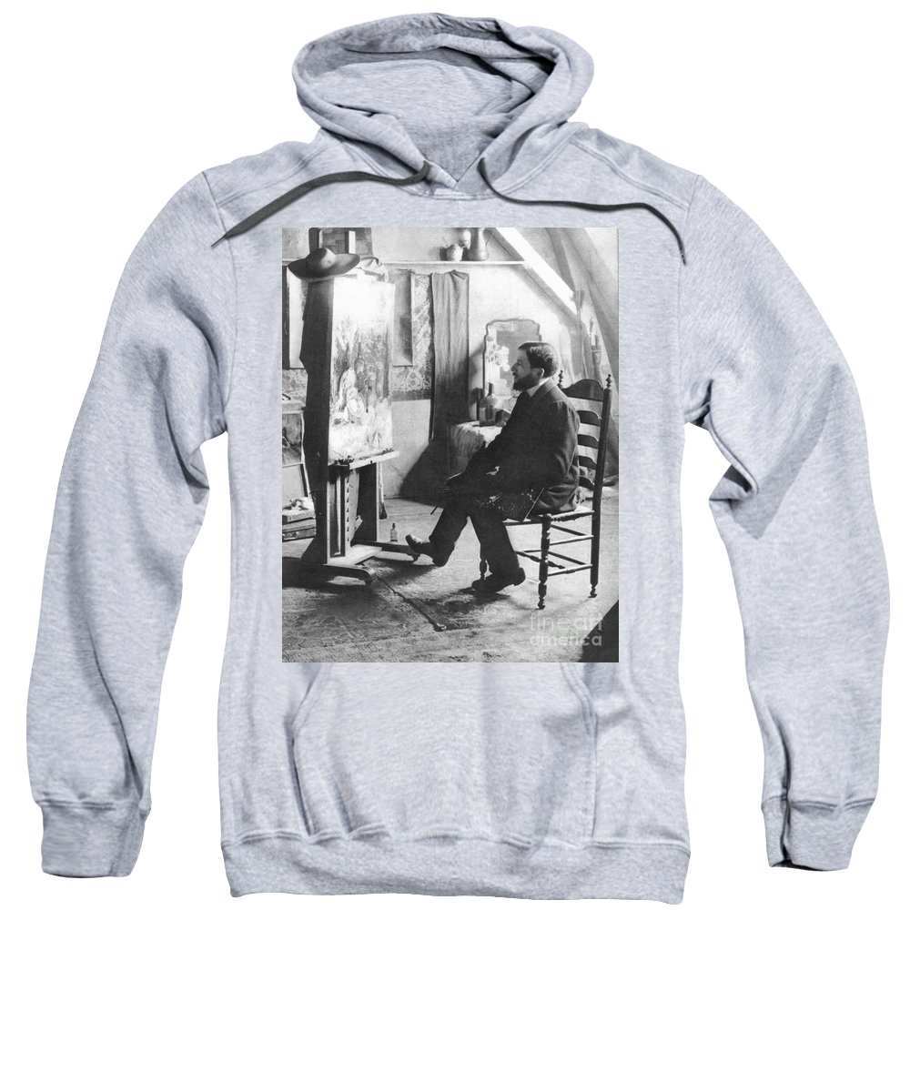 1905 Sweatshirt featuring the photograph Piet Mondrian (1872-1944) by Granger