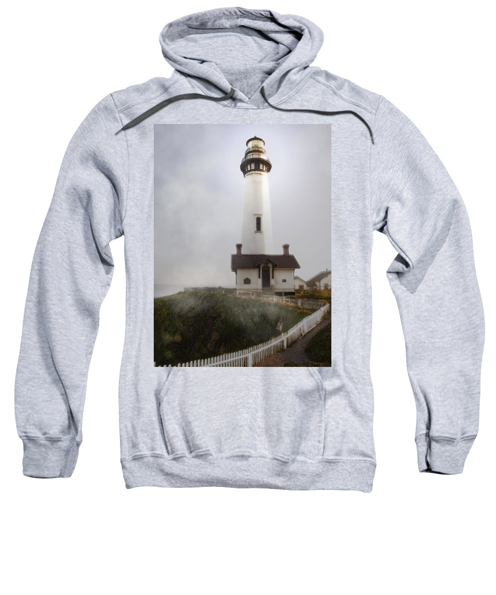 Ocean Sweatshirt featuring the photograph Pigeon Point Lighthouse by Karen W Meyer