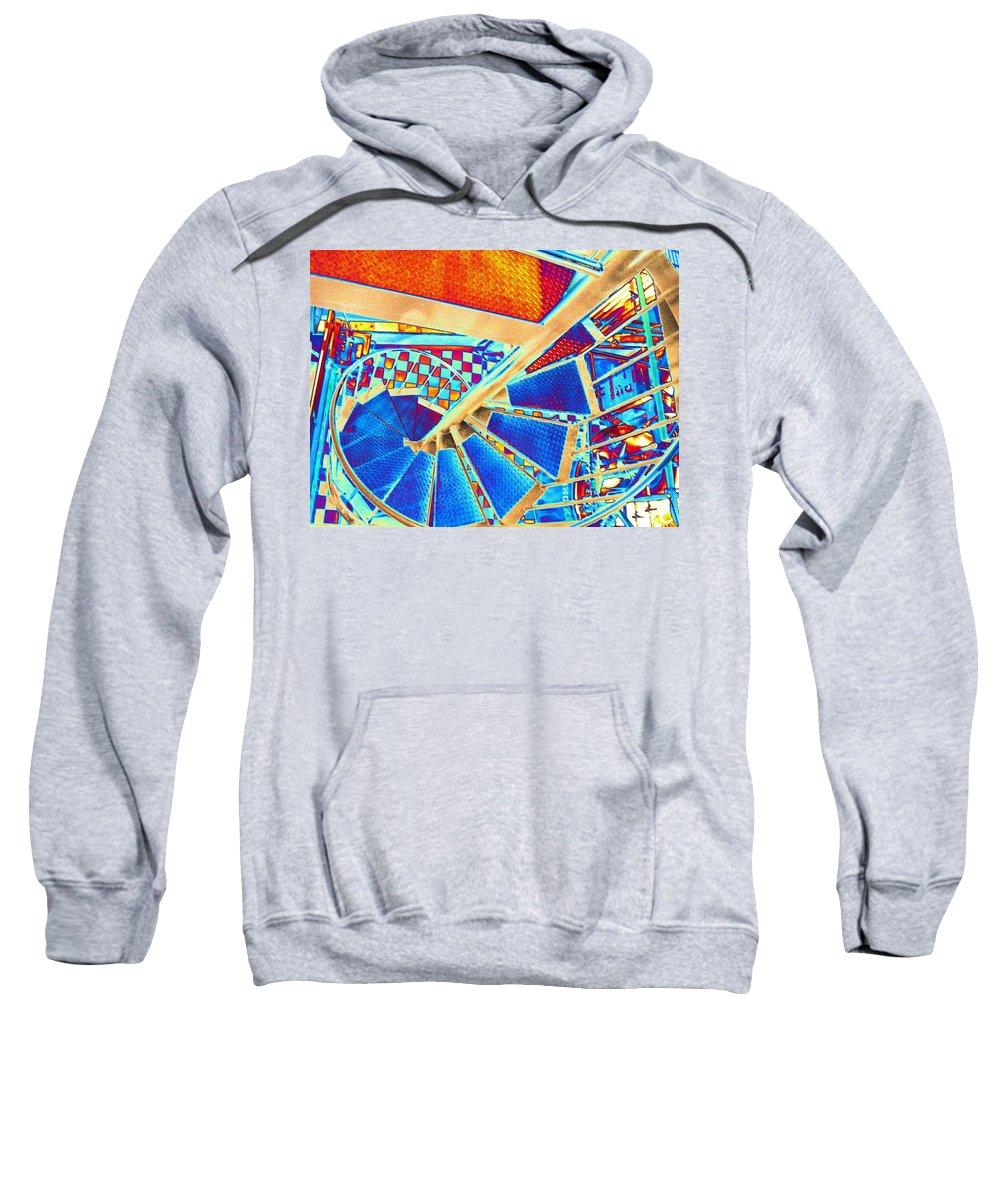 Seattle Sweatshirt featuring the digital art Pike Brewpub Stair by Tim Allen