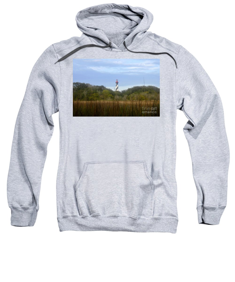 St. Augustine Florida Sweatshirt featuring the photograph Pillar Of St. Augustine by David Lee Thompson