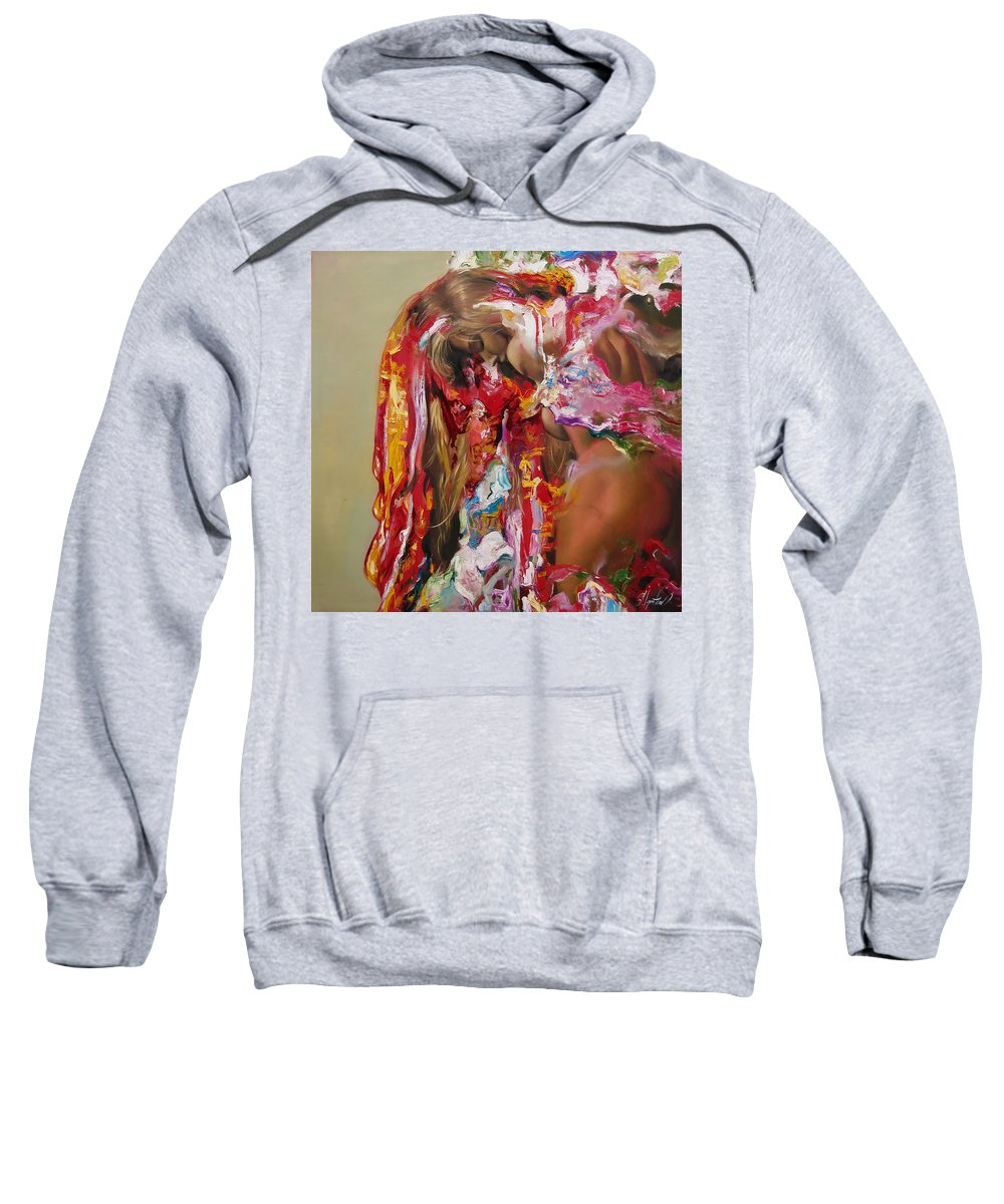 Ignatenko Sweatshirt featuring the painting Pine by Sergey Ignatenko