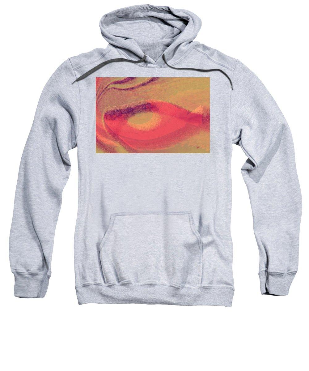 Fantasy Sweatshirt featuring the digital art Pink Ambrelia by Max Steinwald