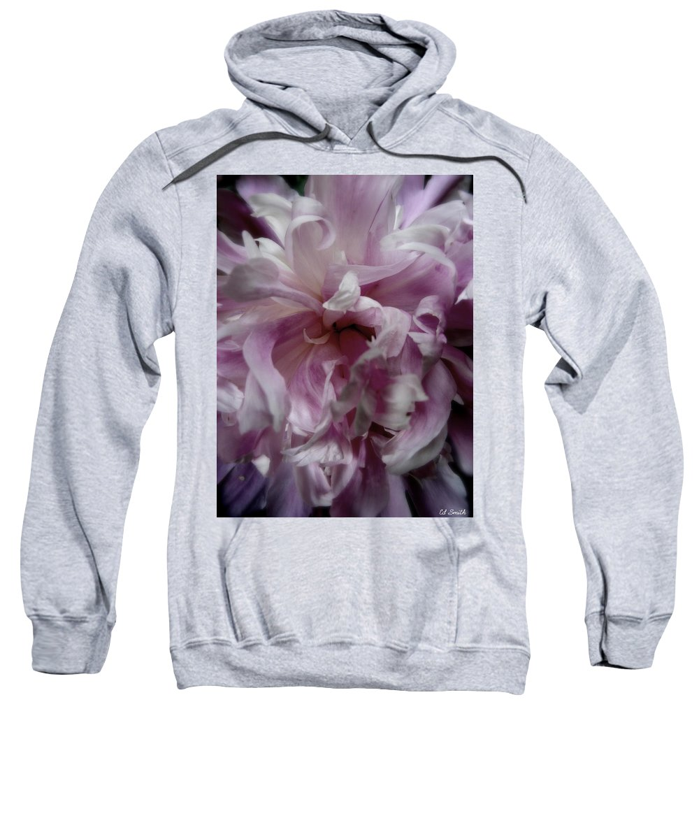 Still Life Sweatshirt featuring the photograph Pink And Purple by Ed Smith