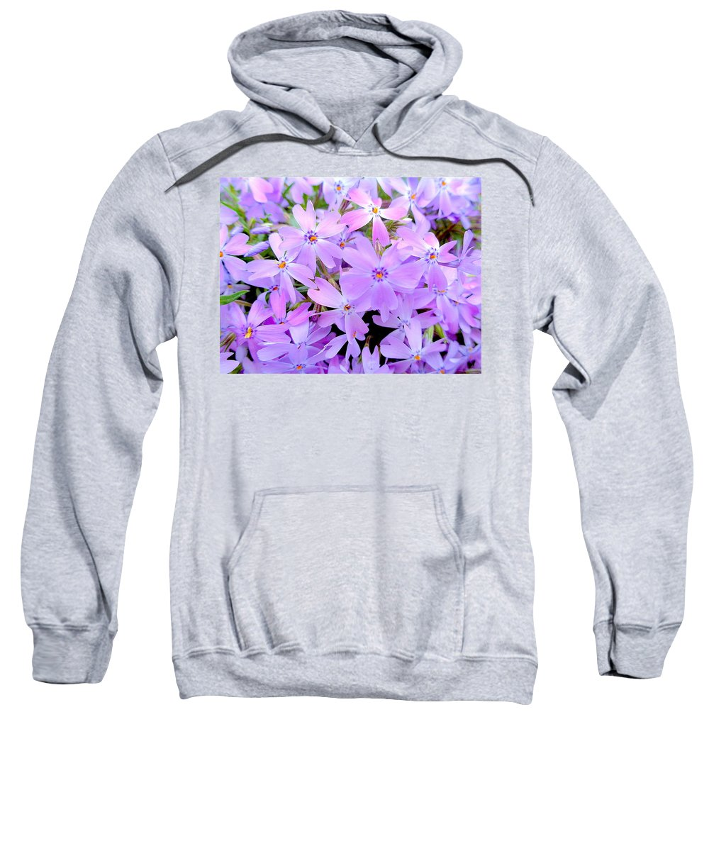 Pink Sweatshirt featuring the photograph Pink And Purple Spring by Wendy Yee