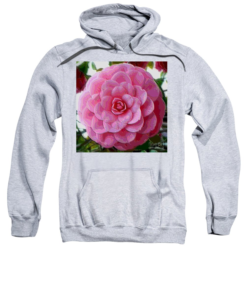 Pink Flower Sweatshirt featuring the photograph Pink Camellia Dream by Carol Groenen