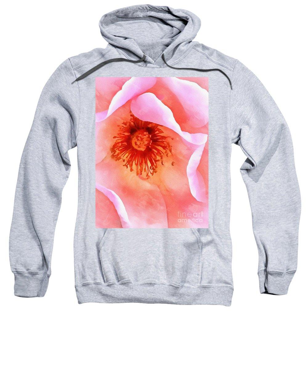 Pink Rose Sweatshirt featuring the photograph Pink Devotion by Krissy Katsimbras