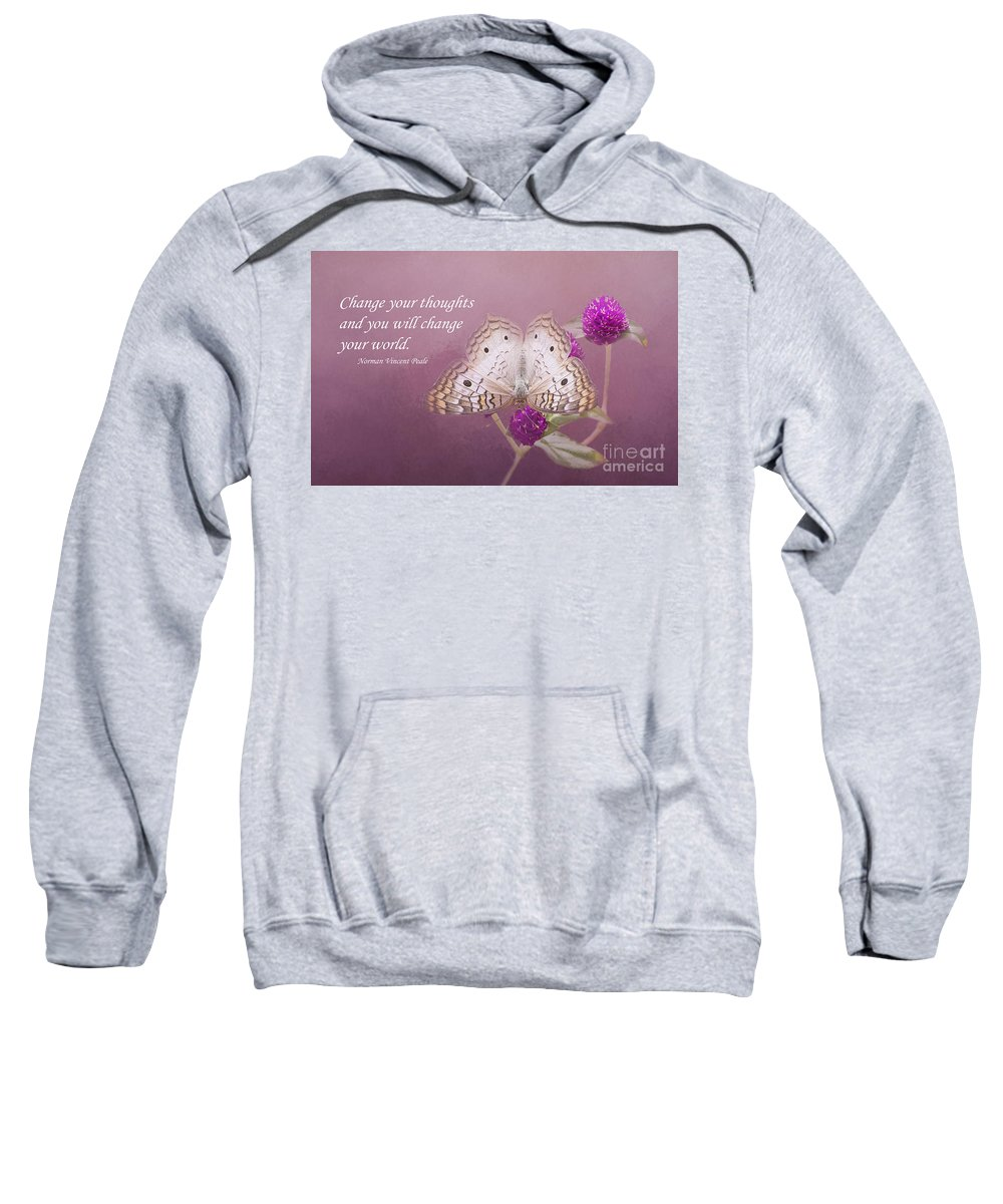 Butterfly Sweatshirt featuring the photograph Pink Dream by Elisabeth Lucas