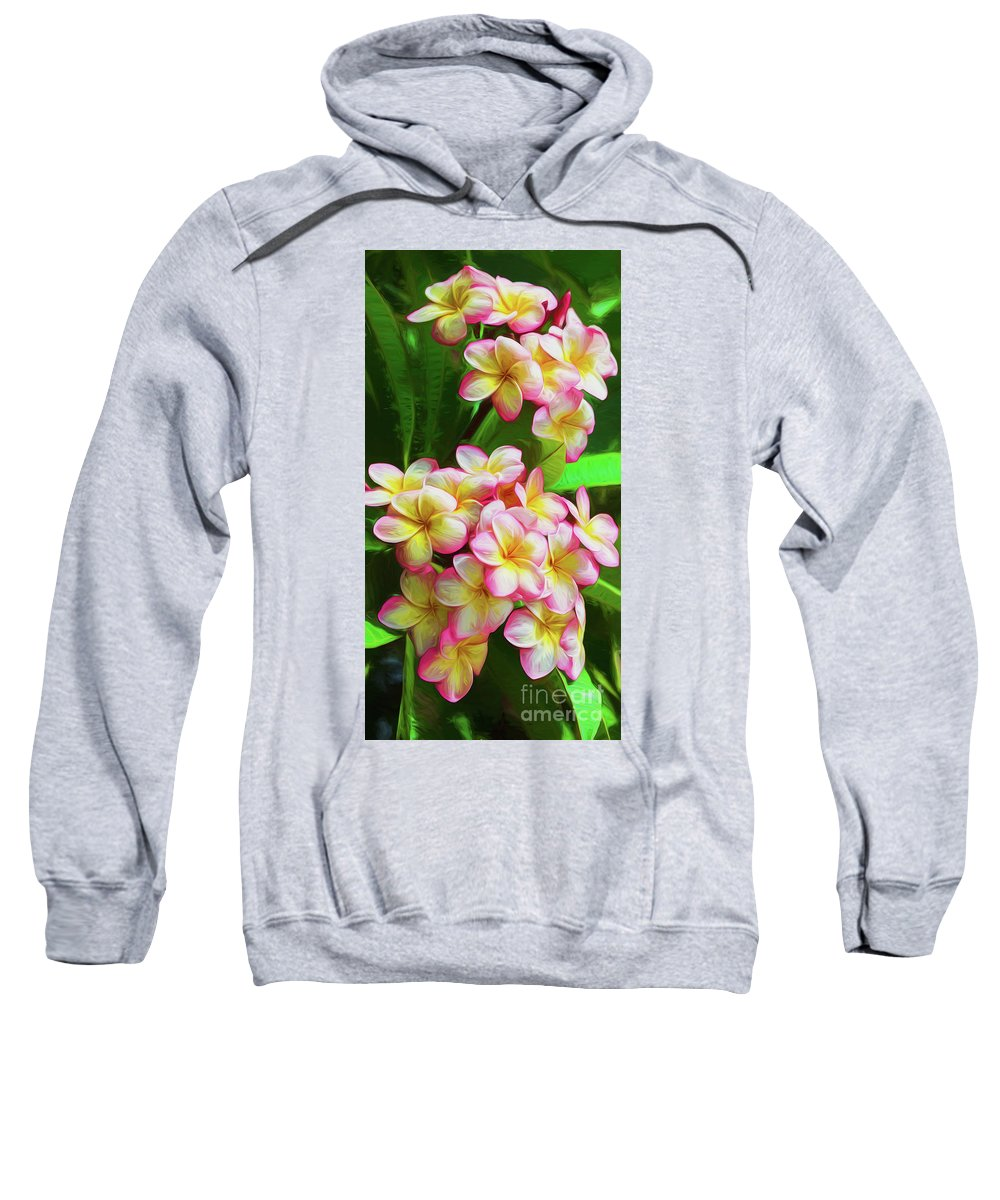 Pink Flora Sweatshirt featuring the photograph Pink Frangipani by Sheila Smart Fine Art Photography
