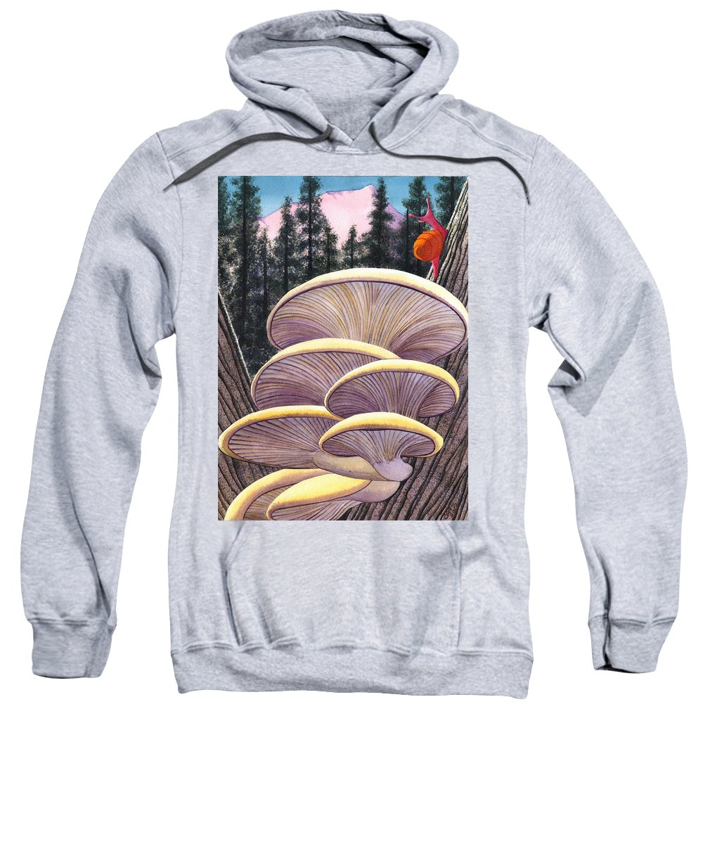 Mushrooms Sweatshirt featuring the painting Pink Like Me by Catherine G McElroy