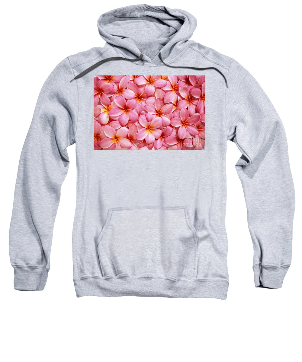 Aloha Sweatshirt featuring the photograph Pink Plumeria by Kyle Rothenborg - Printscapes