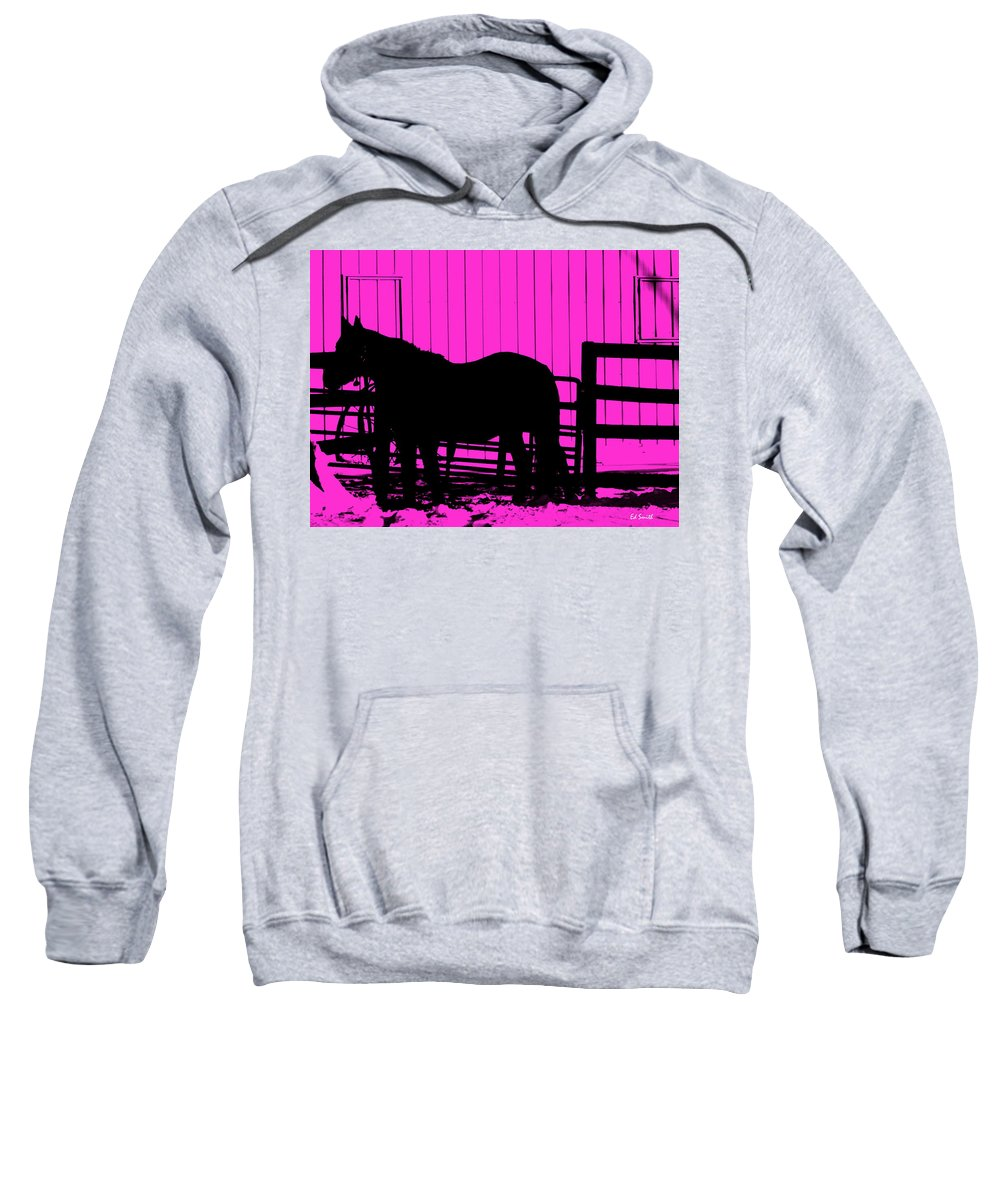 Pink Pony Sweatshirt featuring the photograph Pink Pony by Ed Smith