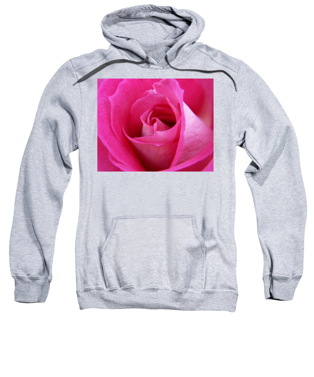 Rose Sweatshirt featuring the photograph Pink Rose by Amy Fose