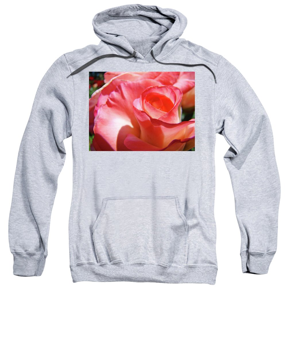 Rose Sweatshirt featuring the photograph Pink Rose Art Prints Floral Summer Rose Flower Baslee Troutman by Baslee Troutman