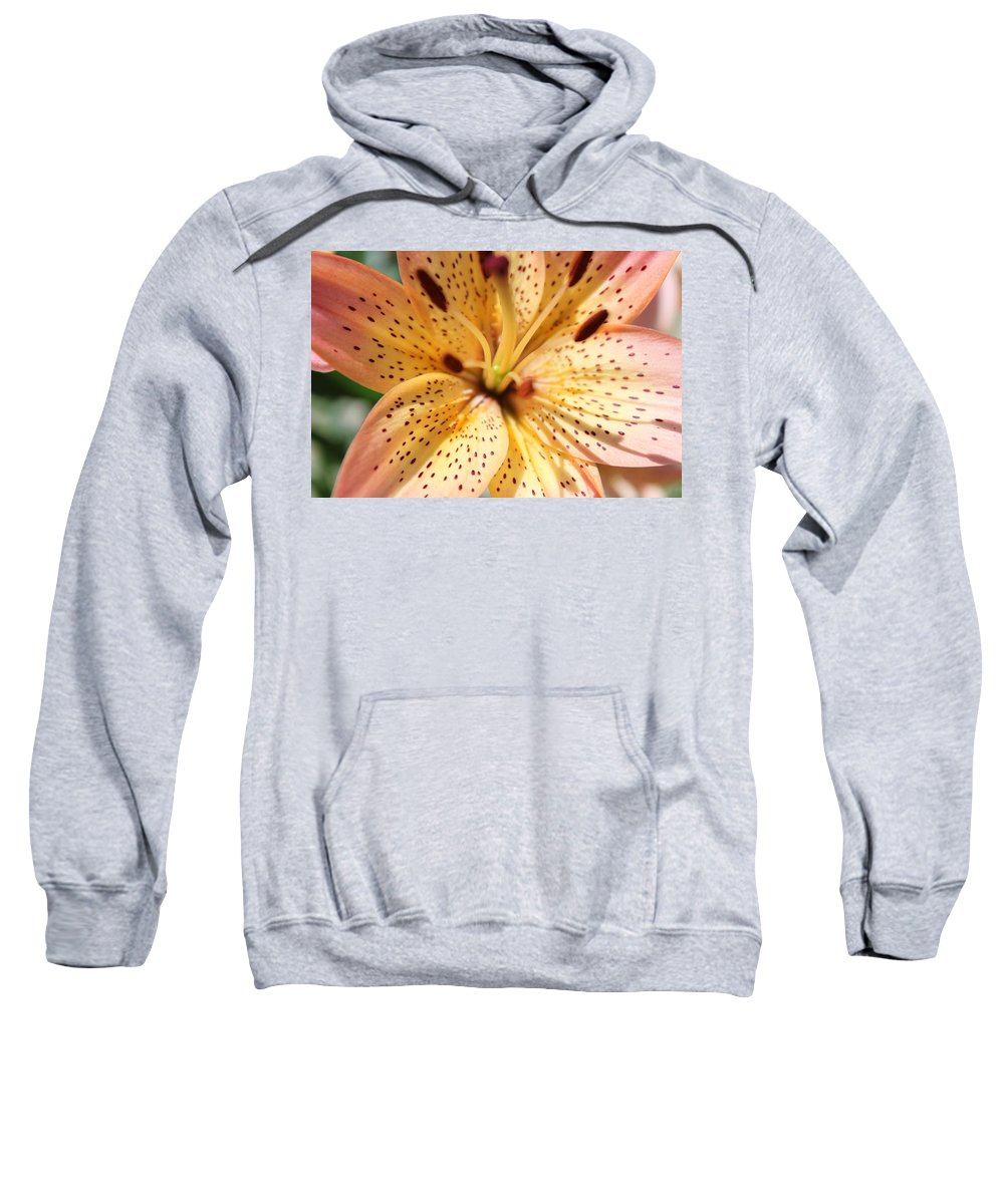 Lilly Sweatshirt featuring the photograph Pink Spotted Lilly by Lauri Novak