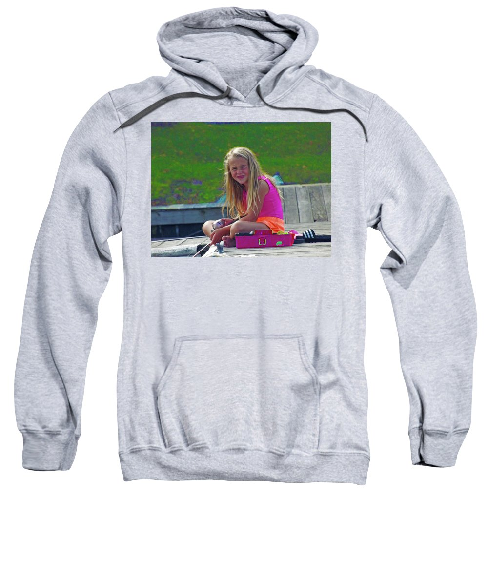 Pink Summer Sweatshirt featuring the photograph Pink Tackle Box by Joseph F Safin