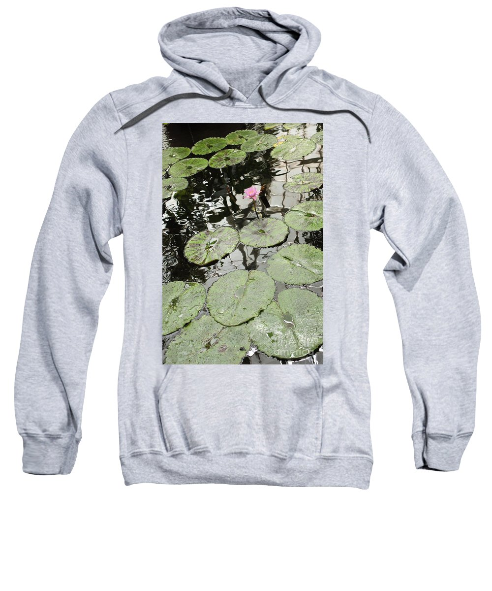 Ond Sweatshirt featuring the photograph Pink Water Lily by Carol Groenen