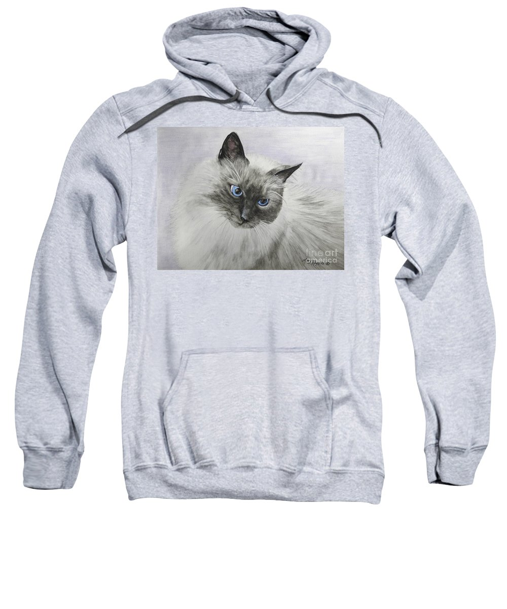 Animals Sweatshirt featuring the mixed media Pip by Mary Rogers