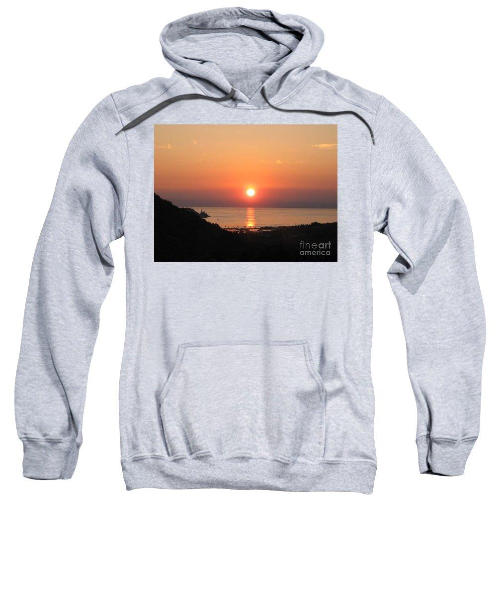 Sunset Sea Sweatshirt featuring the photograph Piran's Sunset I by Dragica Micki Fortuna