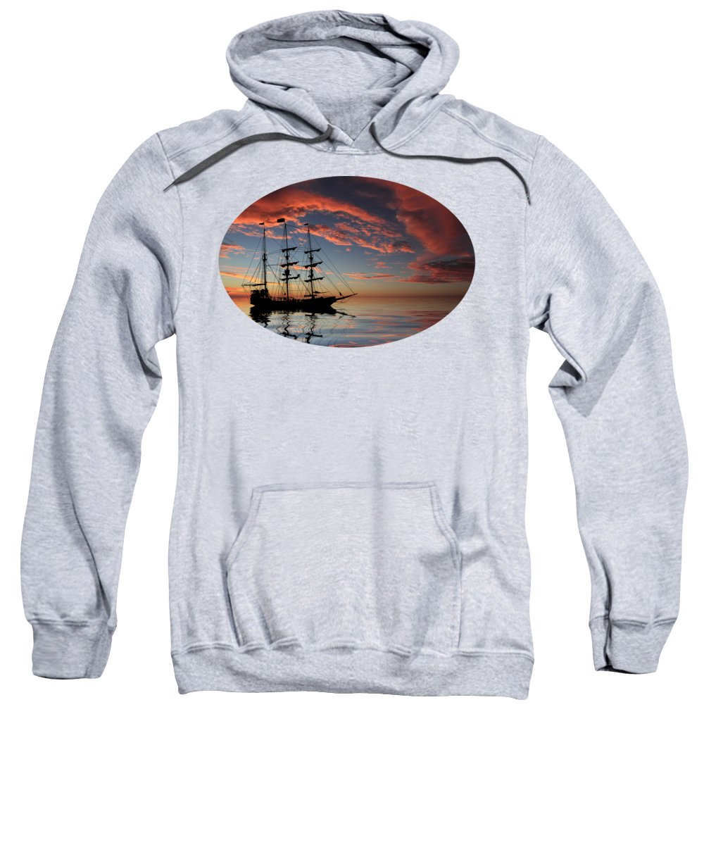 Boat Silhouette Hooded Sweatshirts T-Shirts