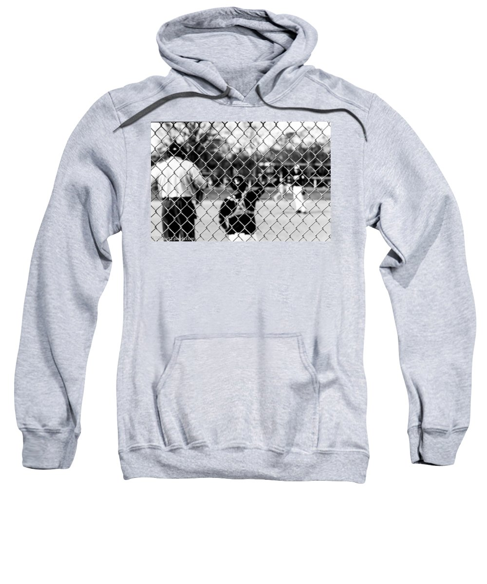 Detroit Michigan 10four12 Sweatshirt featuring the photograph Pitchers And Catchers by Terry Cross