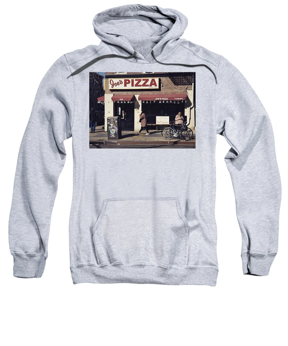 Pizza Sweatshirt featuring the photograph Pizza Store by Aya Edlin