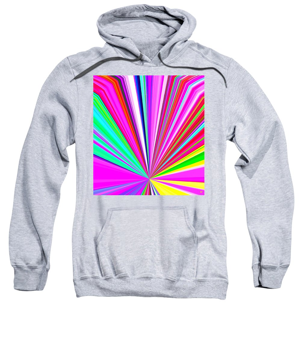 Abstract Sweatshirt featuring the digital art Pizzazz 11 by Will Borden