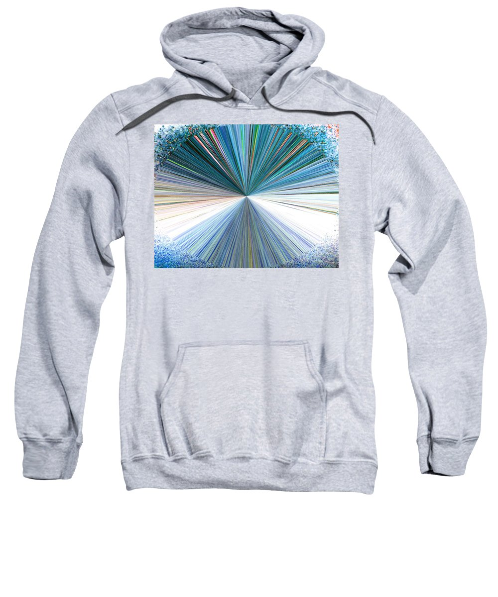 Abstract Sweatshirt featuring the digital art Pizzazz 22 by Will Borden