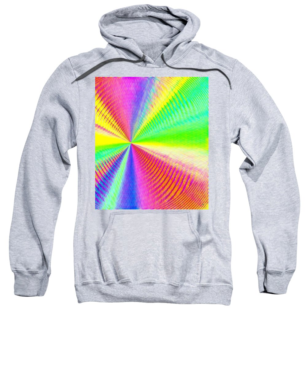Abstract Sweatshirt featuring the digital art Pizzazz 24 by Will Borden