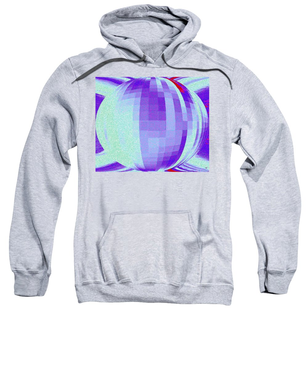 Abstract Sweatshirt featuring the digital art Pizzazz 9 by Will Borden