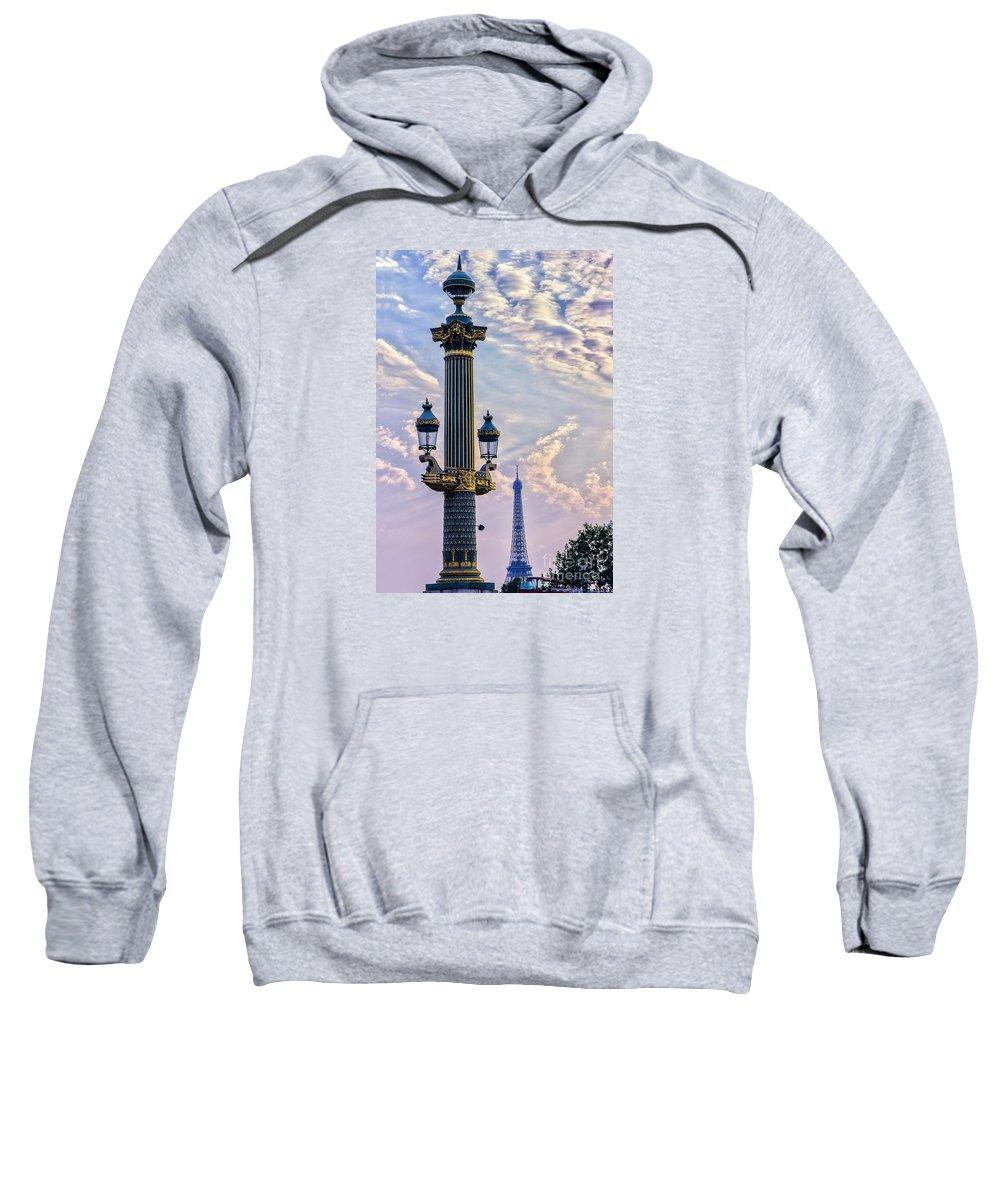 Paris Sweatshirt featuring the photograph Place De La Concorde View Eiffeltower by Rene' Keultjes