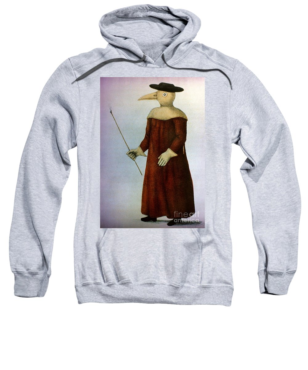 1720 Sweatshirt featuring the photograph Plague Costume by Granger