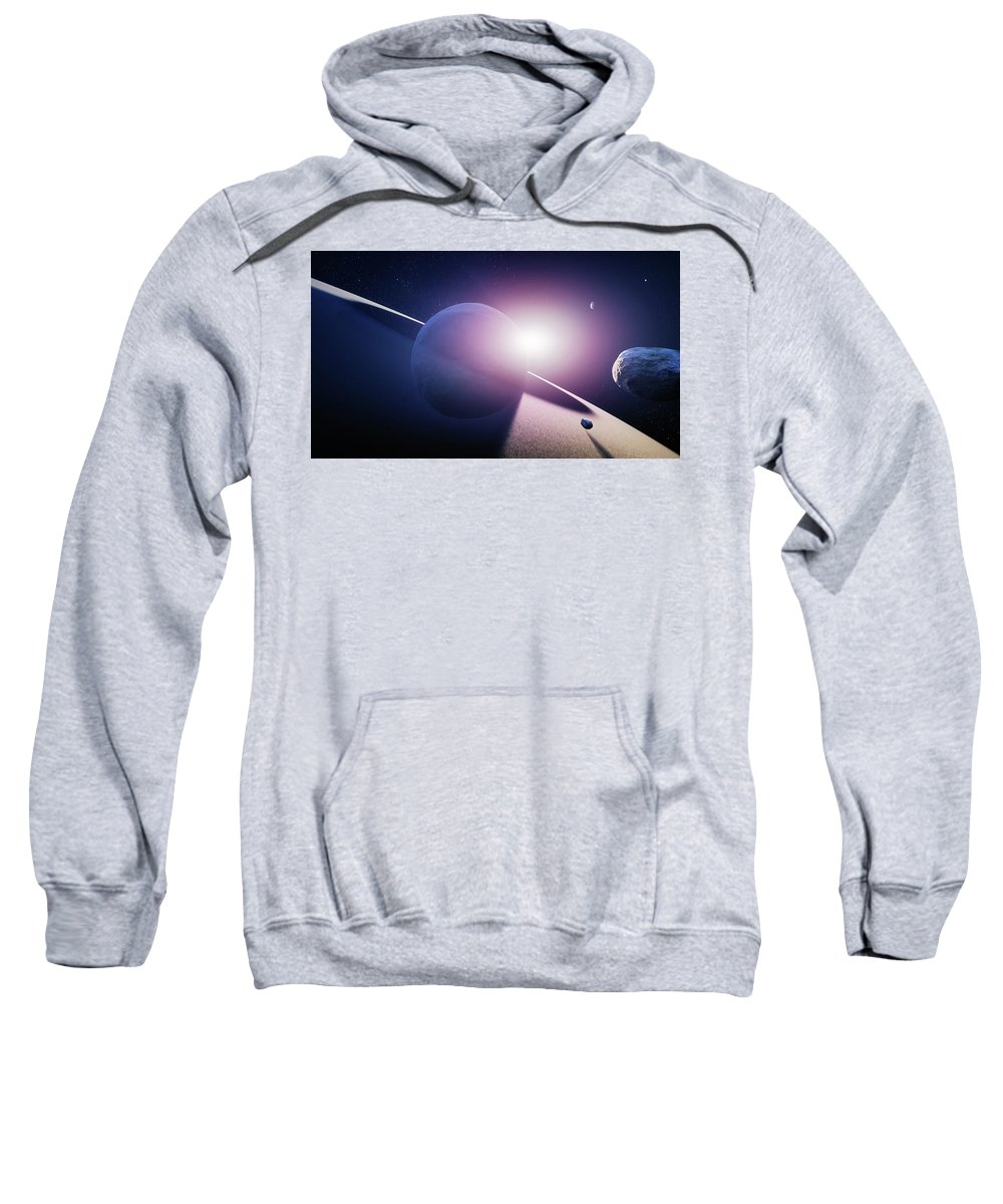 Saturn Sweatshirt featuring the photograph Planet Saturn Sunrise by Johan Swanepoel