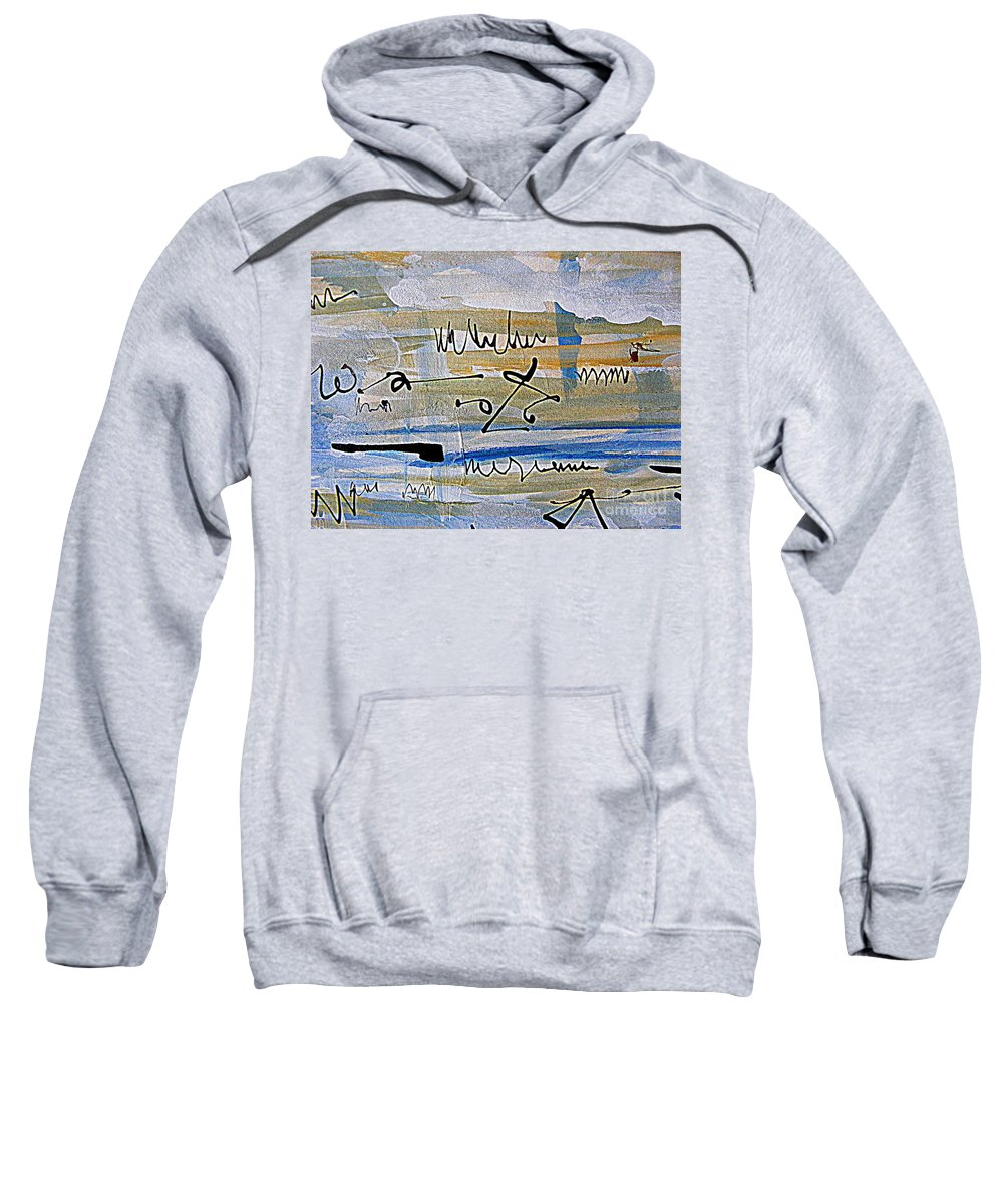 Abstract Calligraphic Painting Sweatshirt featuring the painting Planning Ahead by Nancy Kane Chapman