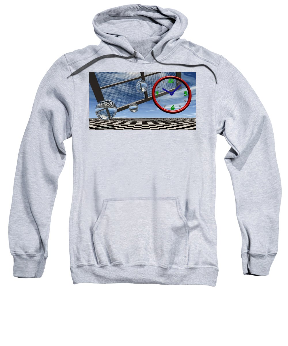 Surreal Sweatshirt featuring the digital art Play Time by Richard Rizzo