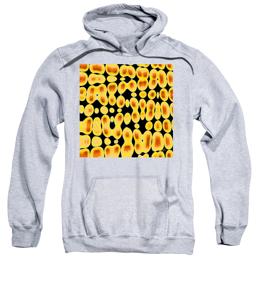 Abstract Egg Sweatshirt featuring the digital art Playing With Eggs by Ben and Raisa Gertsberg